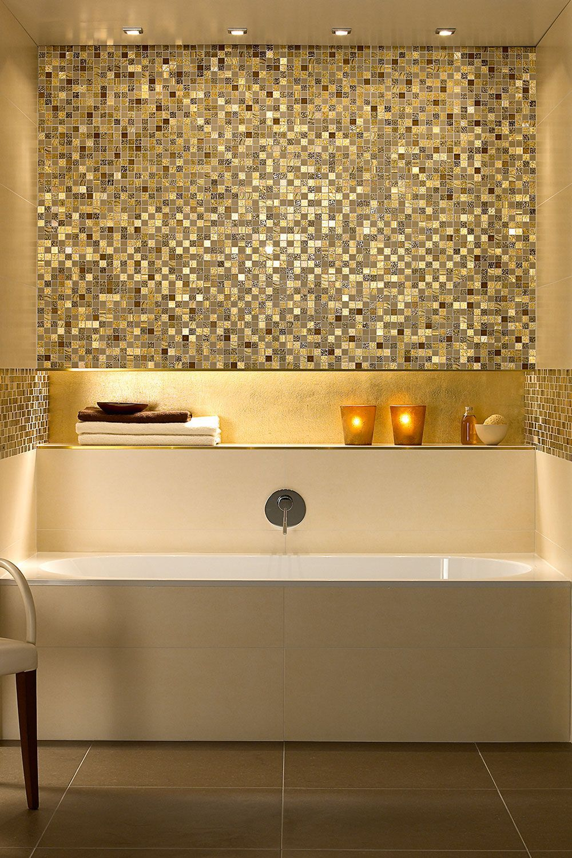 Badezimmer Ideen Fliesen Mozaik Schimmernde Mosaike Von Villeroy