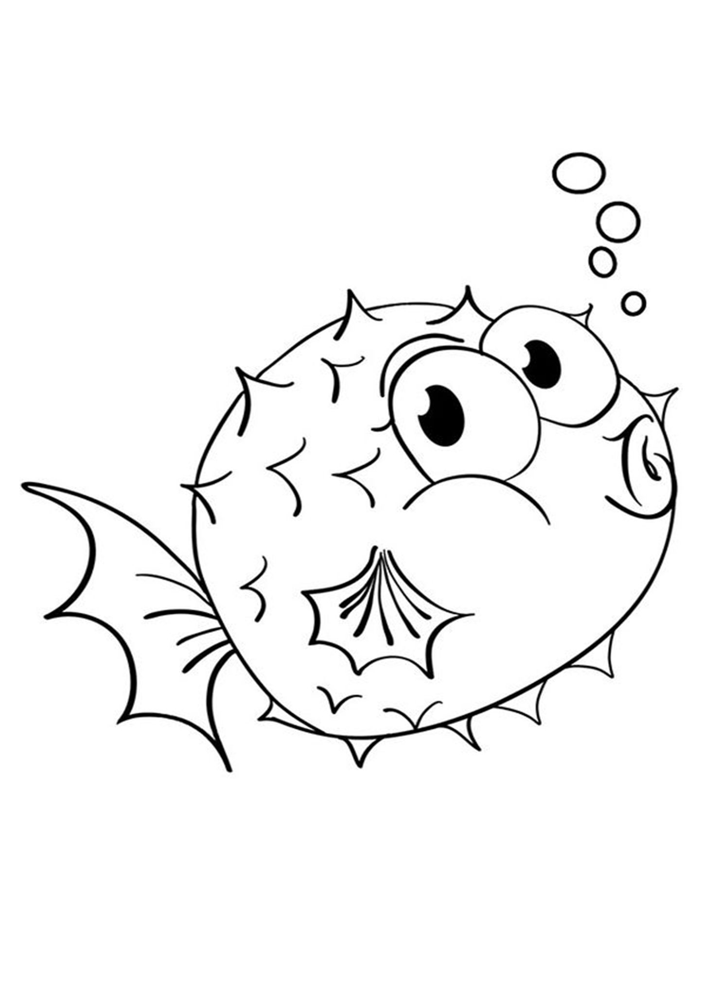 Free Easy To Print Fish Coloring Pages Fish Coloring Page Animal Coloring Pages Fish Printables