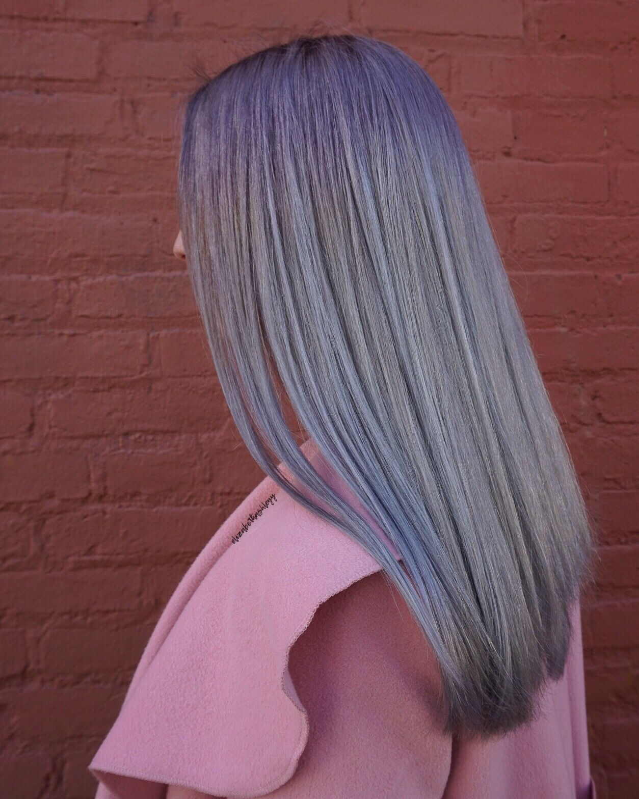 Purple frost hair ice hair