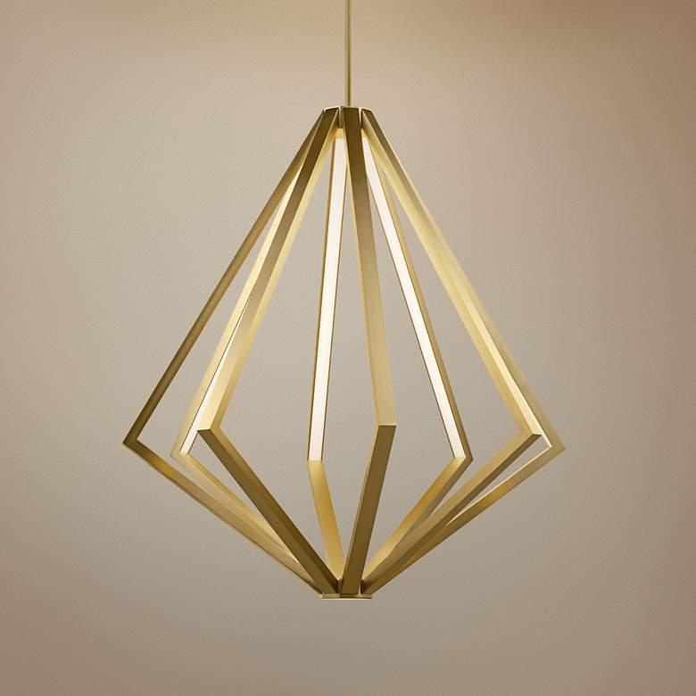 Elan Everest 32 Wide Champagne Gold 8 Light Led Chandelier 69f27 Lamps Plus Led Chandelier Modern Gold Chandelier Geometric Pendant Light