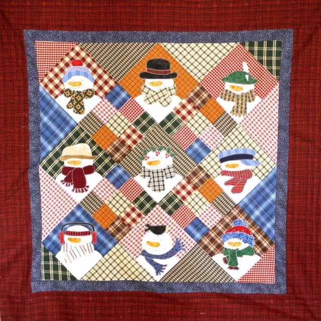 snowman quilt complete