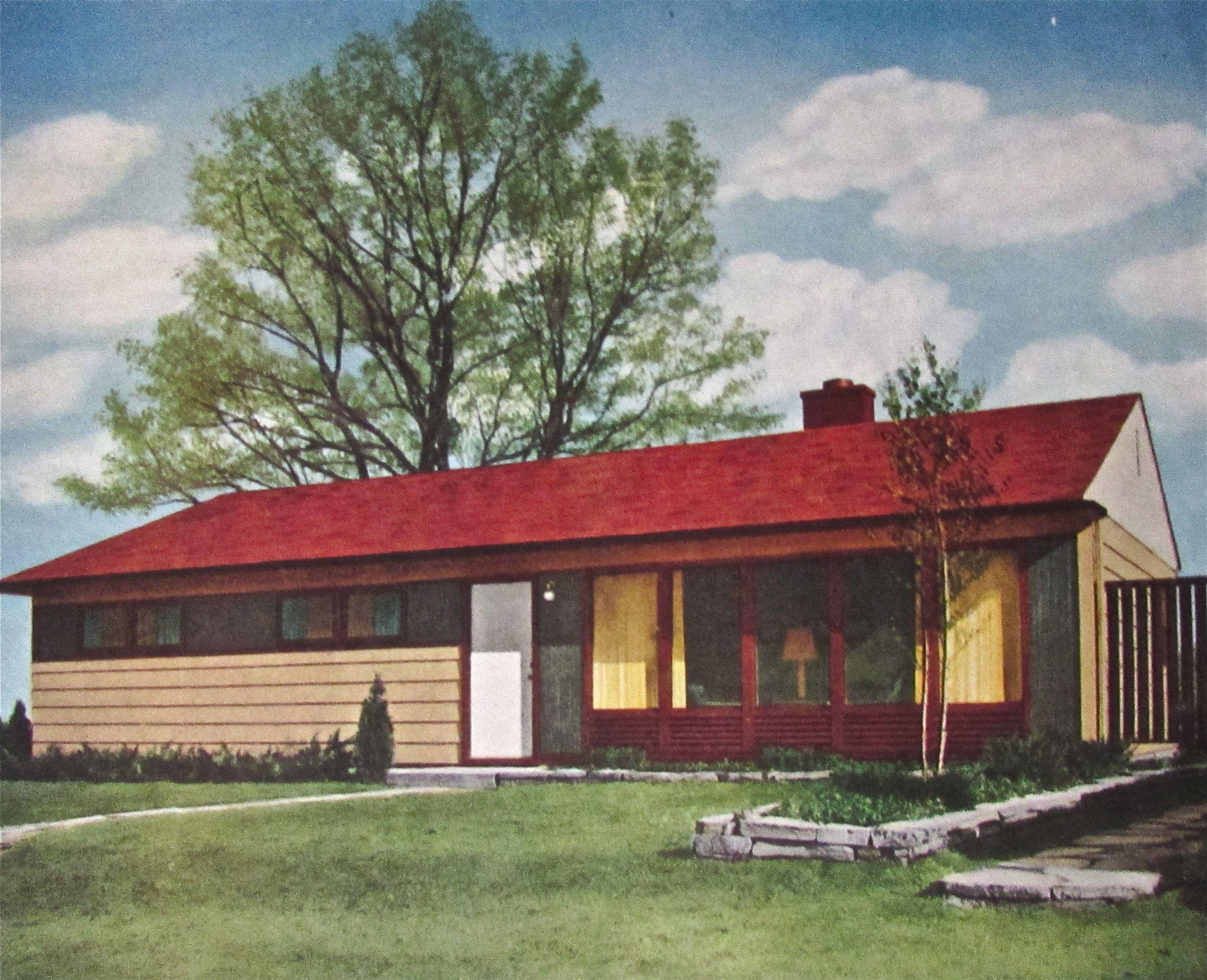 Illustration National Homes Advertisement . 1952 #