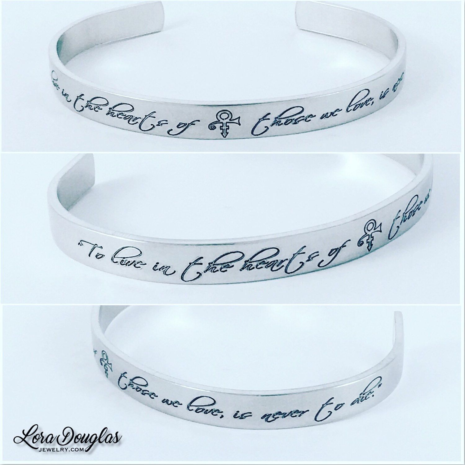 Marriage Made You Family Love My Daughter Skinny Cuff Bracelet Personalized Wedding Gift Silver