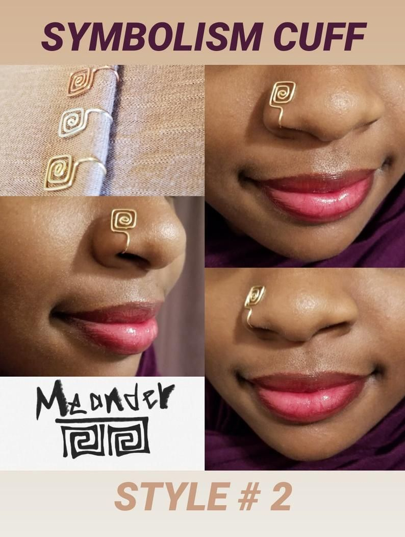 Hand Made Metaphysical Jewelry Wire Nose Cuffs