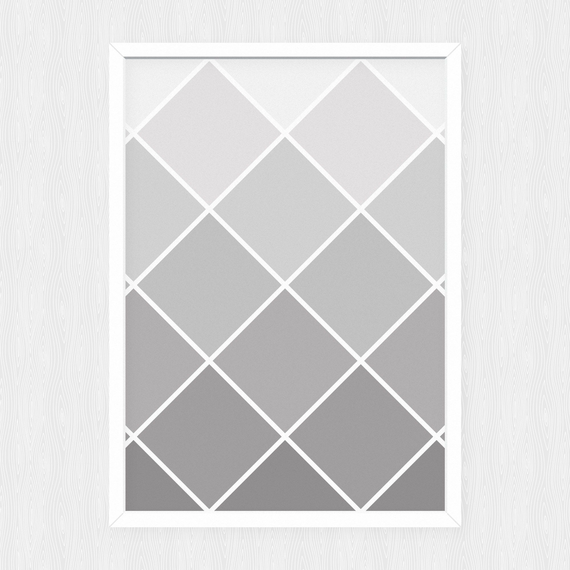 Diamond Fade Gray Downloadable Print