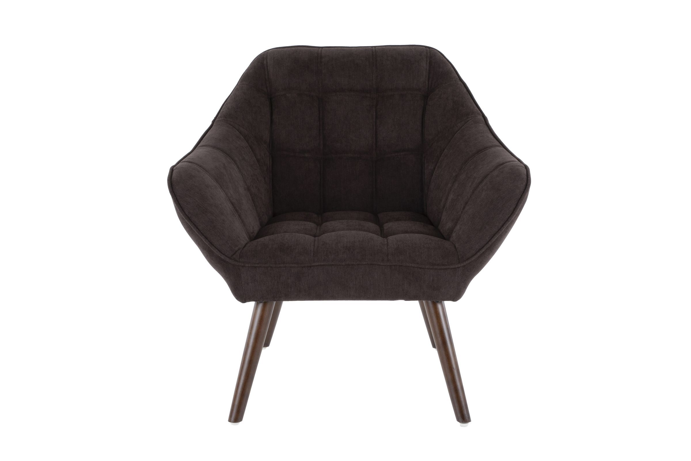 Boulder Mid Century Modern Accent Chair In Charcoal Fabric By