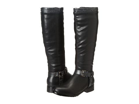 Wanted Vigevano black leather boots