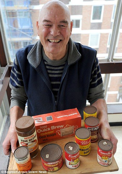 cupboard opened for the first time in 40 years contains food from 70s