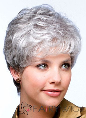 Short Grey Human Hair Wigs