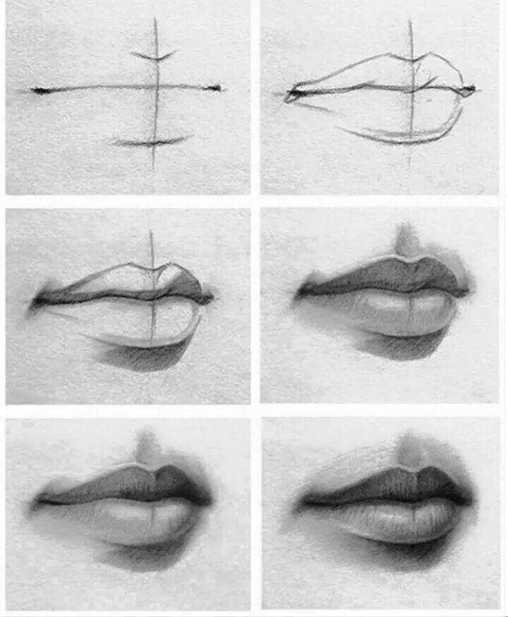 a a tutorial como desenhar uma boca