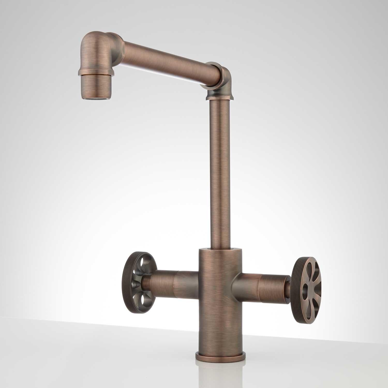 Edison Single Hole Dual Handle Kitchen Faucet