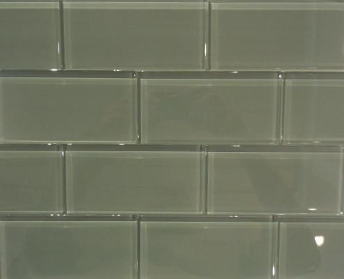 Glass subway tile for the kitchen backsplash or bathroom home sweet home pinterest for Bathroom floors without grout