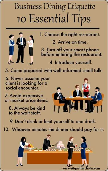10 Essential Business Dining Etiquette Tips Dining