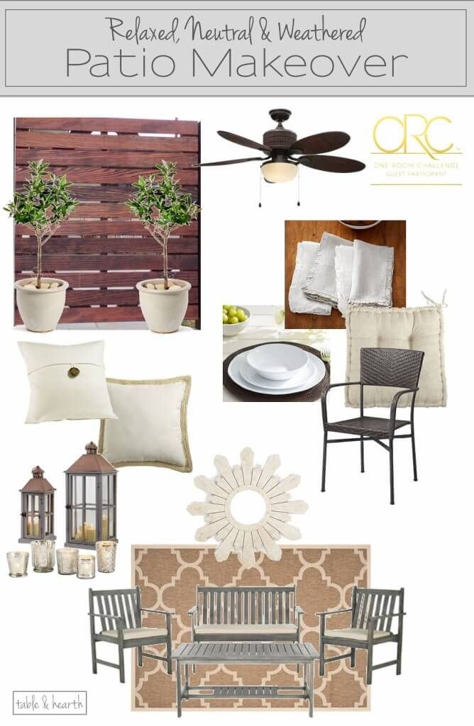 creating a rustic weathered coastal and relaxed patio space