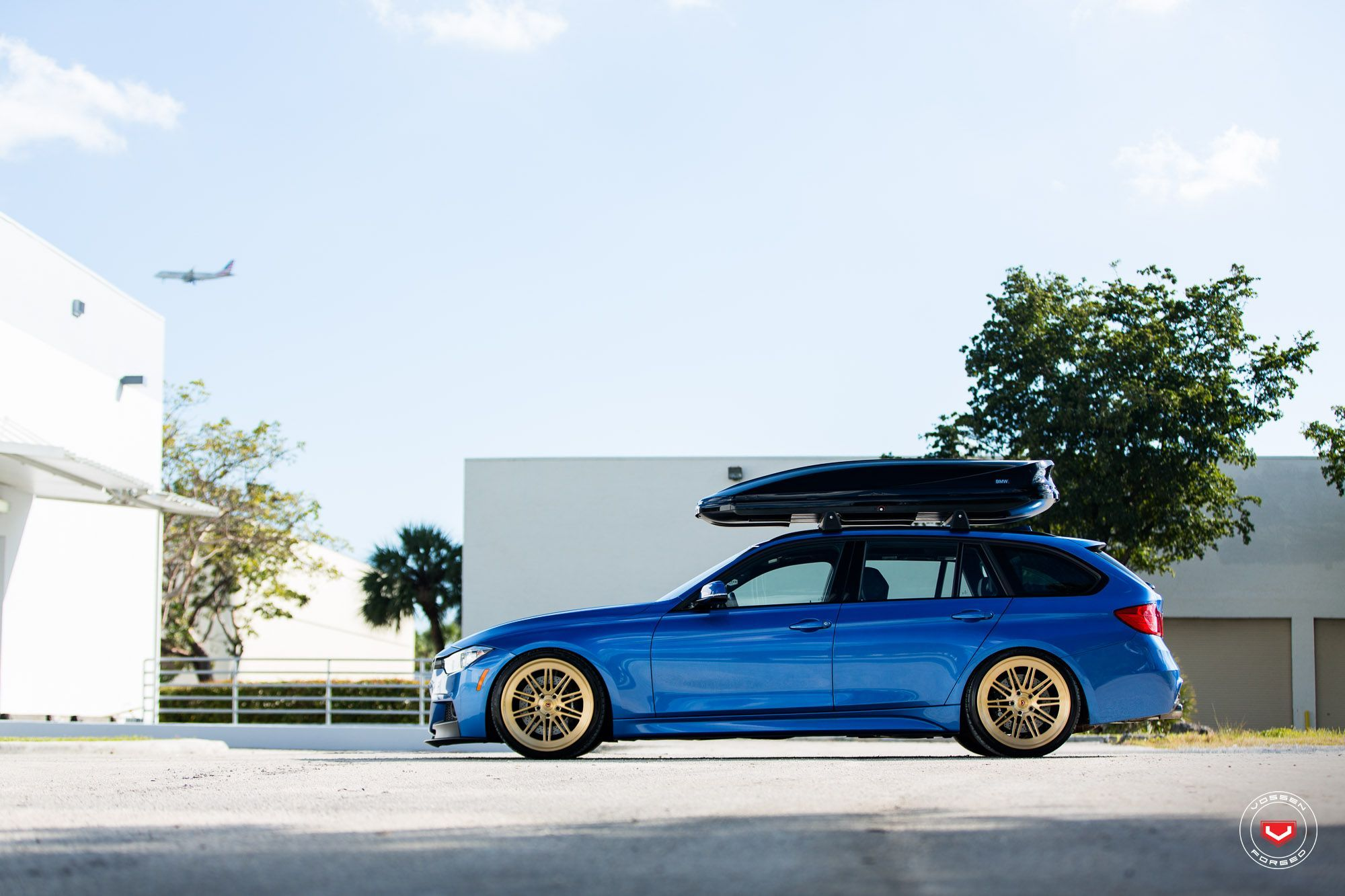 BMW F31 328i Touring xDrive MPackage Estoril Blue Vossen
