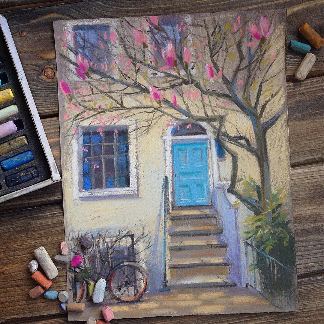 Картинки пастельными мелками