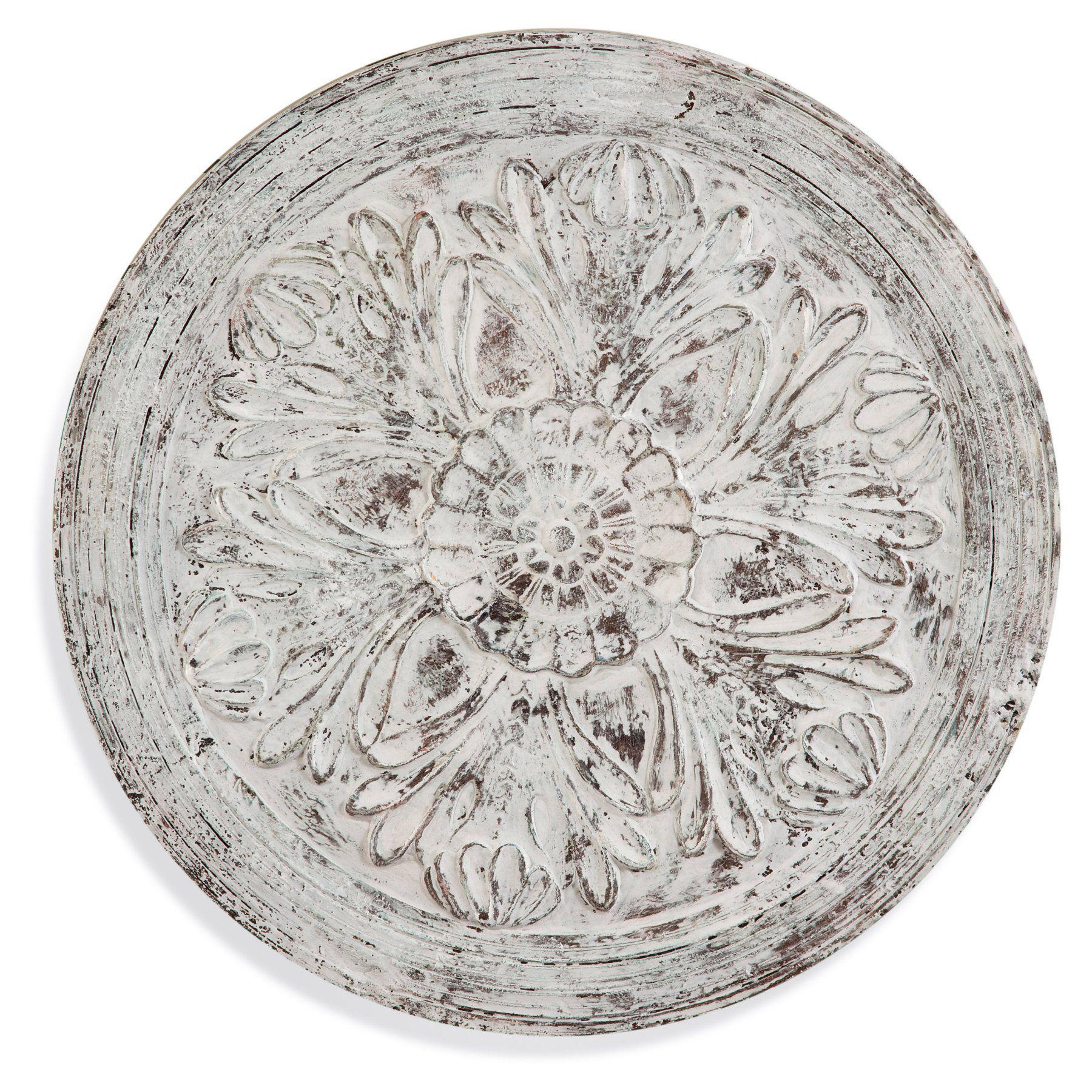 Bassett mirror medallion wooden hanging wall art ec products