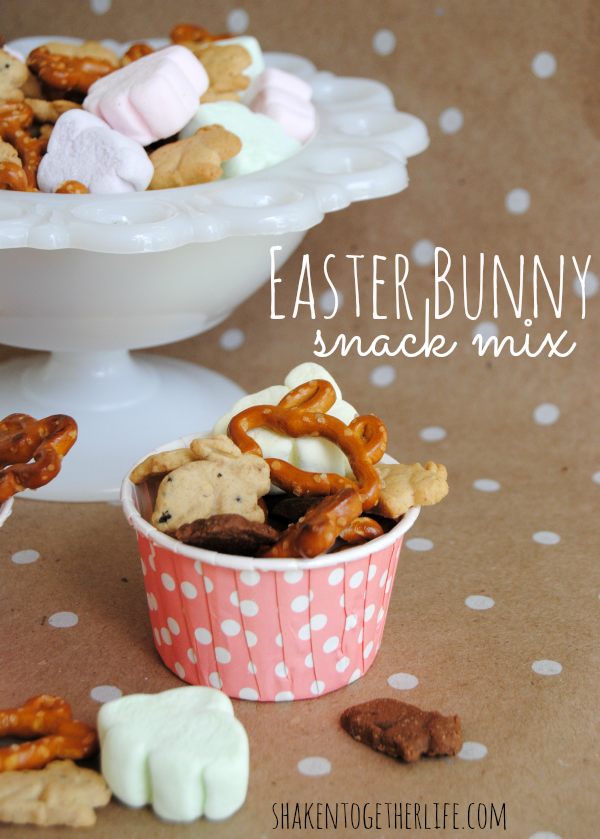 Easter bunny snack mix a quick and easy sweet and salty easter with three bunny shaped sweet and salty ingredients this easy no bake easter bunny snack mix is easy to make and adorable to package as gifts for easter negle Gallery
