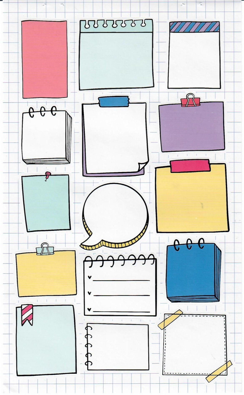 Notepad Stickers | Stationery | Push Pins Thumb Ta