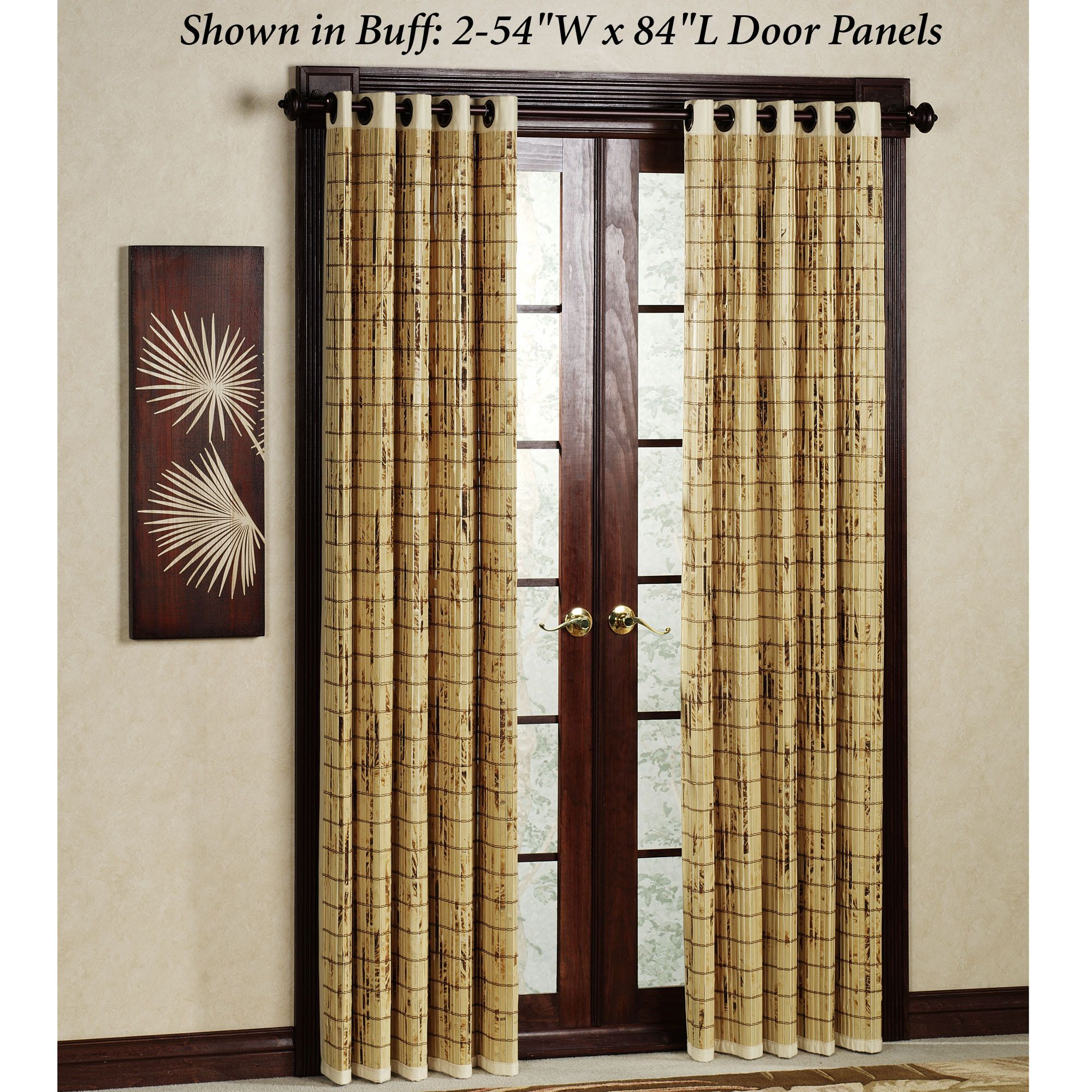 Bamboo door panel 54 x 84 palm springs remodel pinterest bamboo door panel 54 x 84 door panel curtainspatio planetlyrics