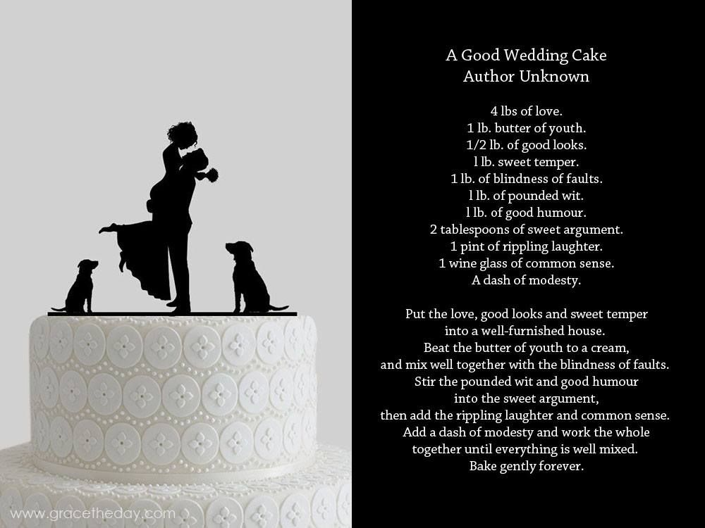 a good wedding cake wedding vows readings and poems pinterest wedding. Black Bedroom Furniture Sets. Home Design Ideas