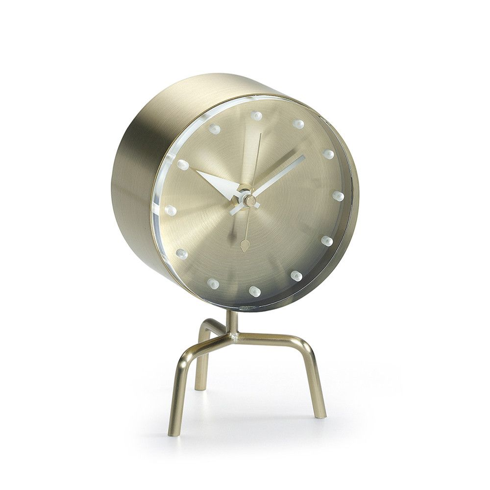 Vitra George Nelson Clock - Tripod Clock - With the diversity of materials  used and their sculptural shapes, George Nelson's clocks embody the joie de  vivre ...
