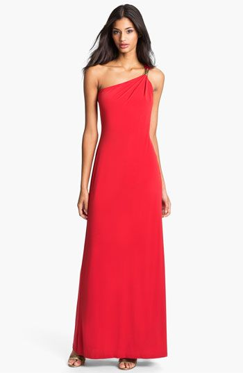 Calvin Klein One Shoulder Jersey Gown available at #Nordstrom ...