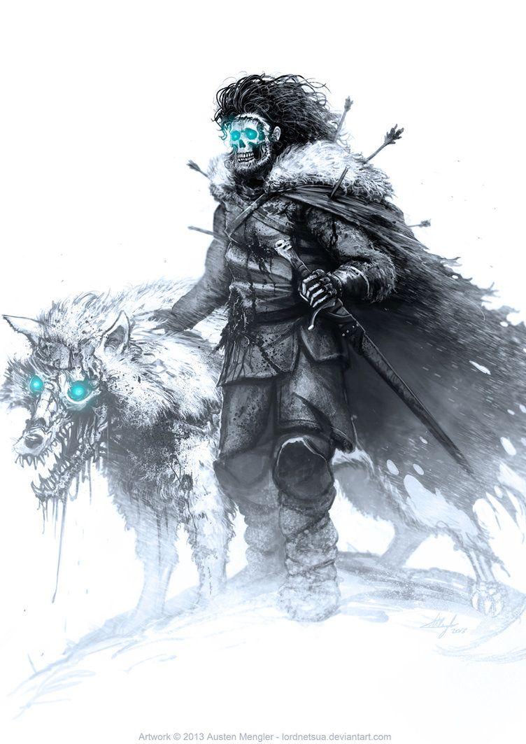 Jon Snow By Lordnetsua Art Series White Walker Art
