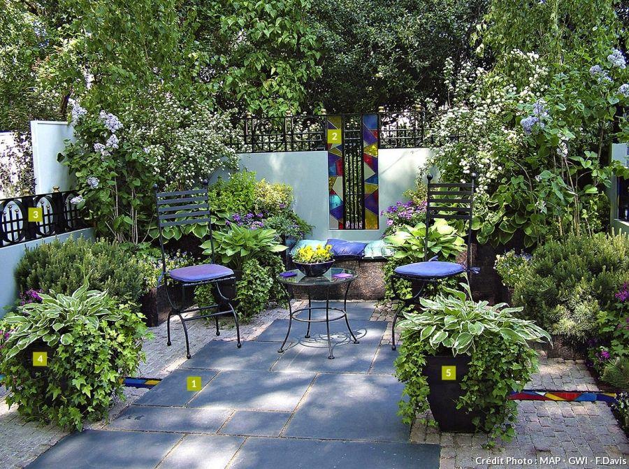 amenagement petit jardin amnager un petit jardin avec dtente jardin bien disposer les plantes le mobilier afin doptimiser lespace disponible - Detente Jardin