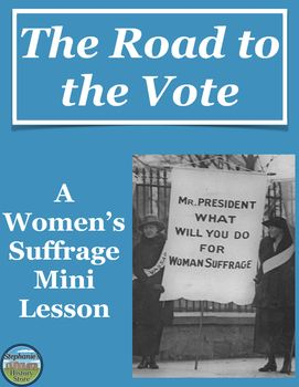 Women's Suffrage Mini Lesson | Social studies activities ...