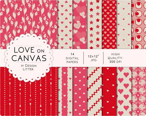 80 Until New Year Love Digital Paper Hearts On Canvas Background In Pink Red And Gray Vintage And Retro Scrapbook Paper For Valentine S Canvas Background Scrapbook Paper Paper Hearts