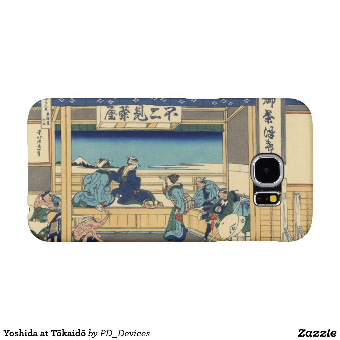 Yoshida at Tōkaidō Mount Fuji Japanese Woodblock Print Samsung Galaxy S6 Cases
