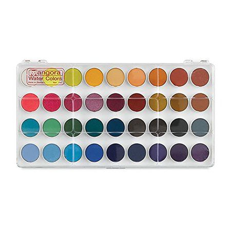 Angora Round Pan Set 36 Color Set Multicolor Color Set Pan