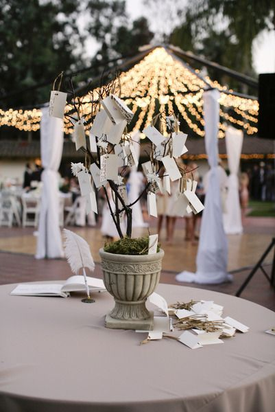 Grab yourself some tags, twine and a potted plant to create this #DIY #guestbook - Braedon Flynn Photography