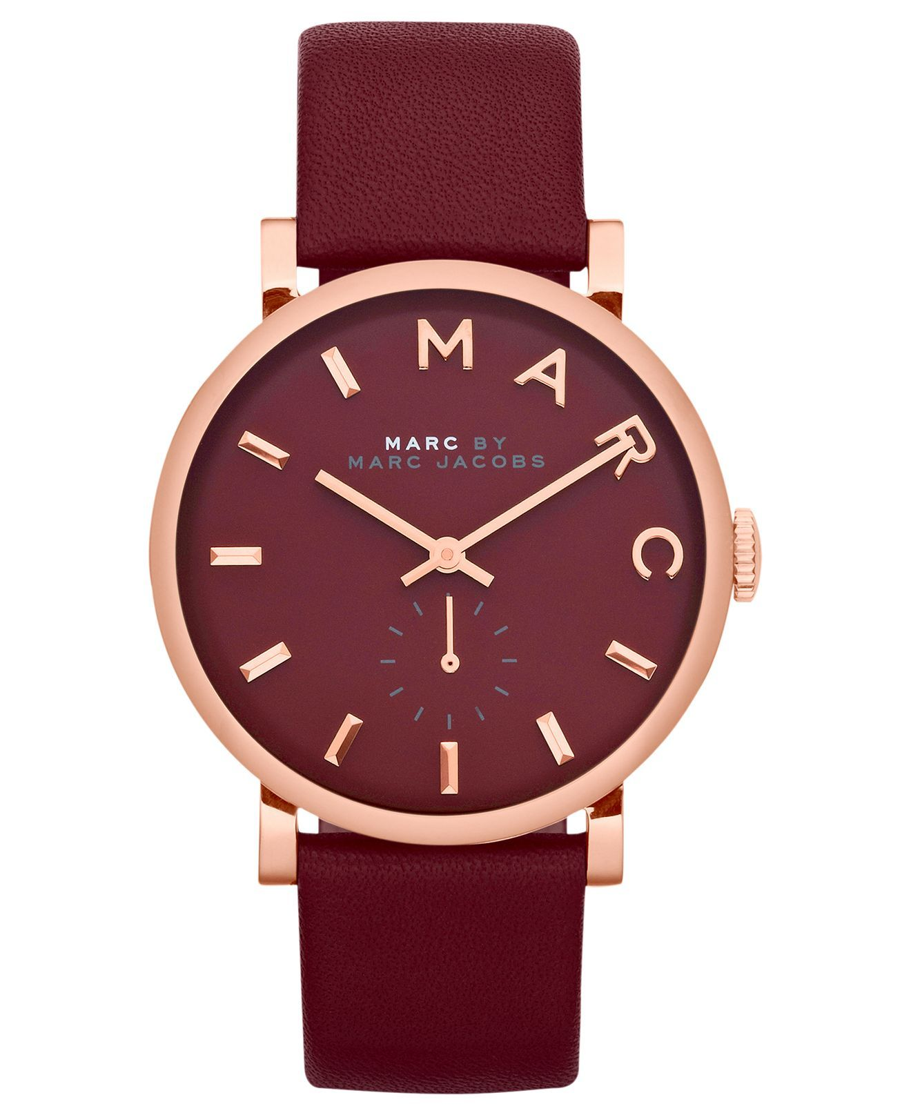 deep by women watches watch pin maroon gorgeous marc leather jacobs strap s baker