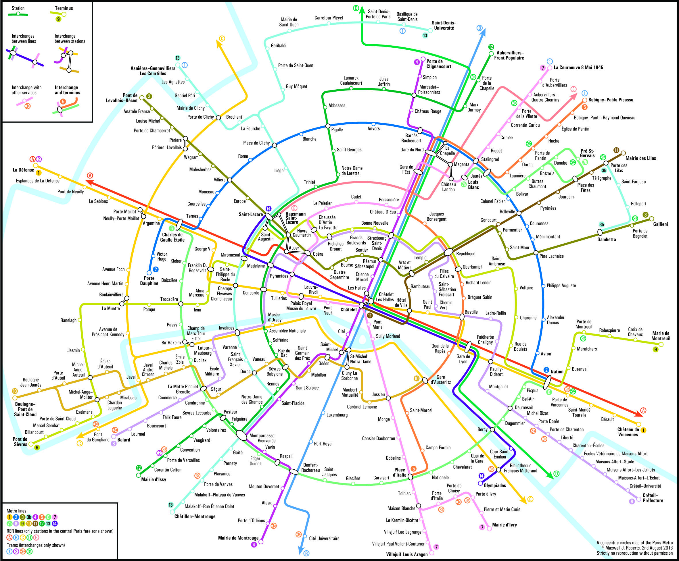 Paris Metro Map Subway System Maps in 2019
