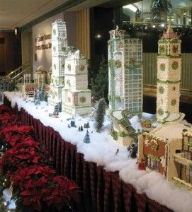 Things to Do in Cincinnati at Christmas time:Gingerbread City Christmas Display Hilton Cincinnati