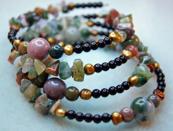 Natural Stone Ring Bracelet or Necklace by ForestofJewels on Etsy, $24.00
