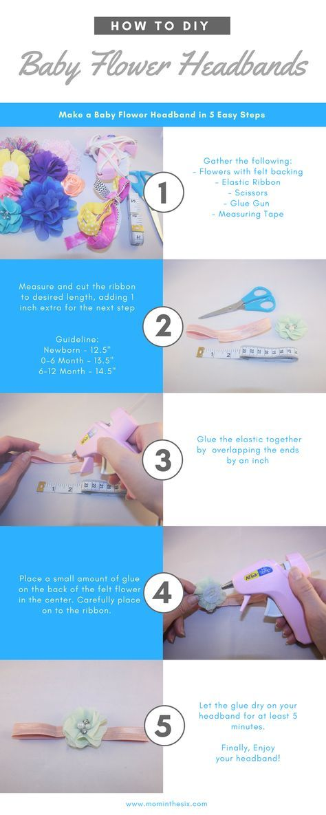 DIY - Baby Flower Headbands #diybabyheadbands