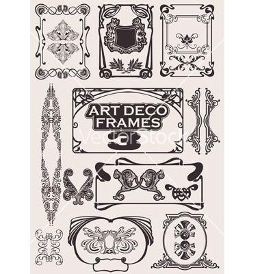 Art deco frames vector   art deco   Pinterest   Art deco