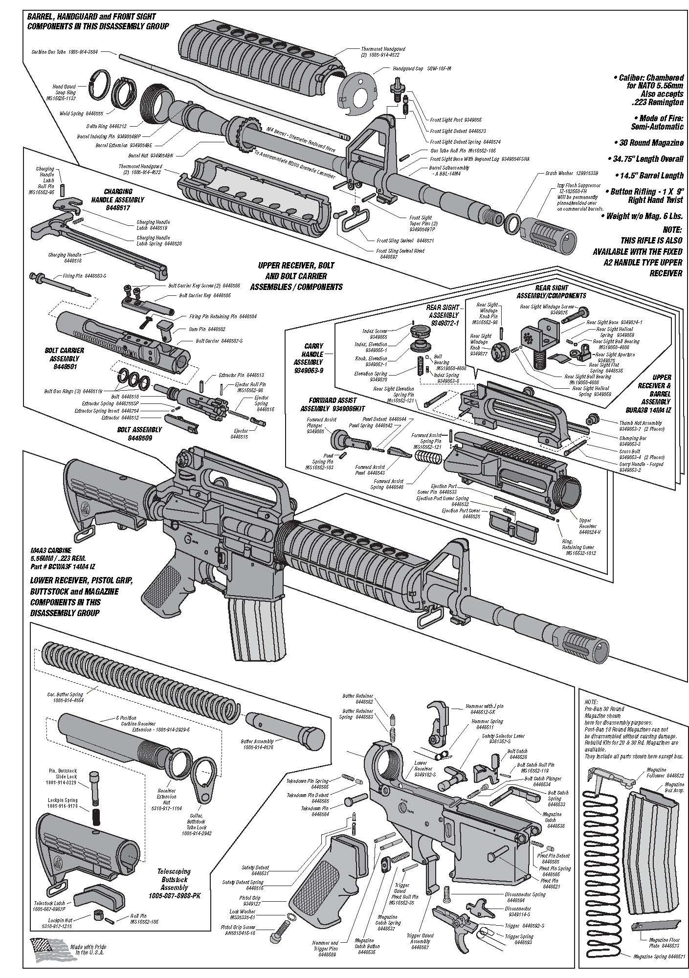 ar 15 stock carbine parts diagram ar schematic | technical drawings & cutaways | guns ... ar 15 nomenclature diagram #6
