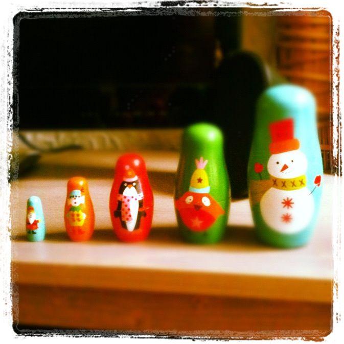 Cute christmas matrjoeska pins