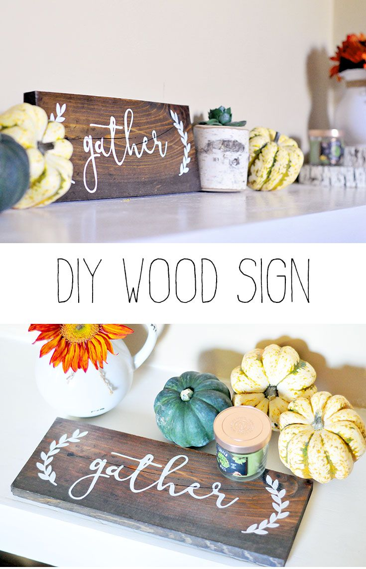 diy wood gather sign diy projects diy wood projects. Black Bedroom Furniture Sets. Home Design Ideas