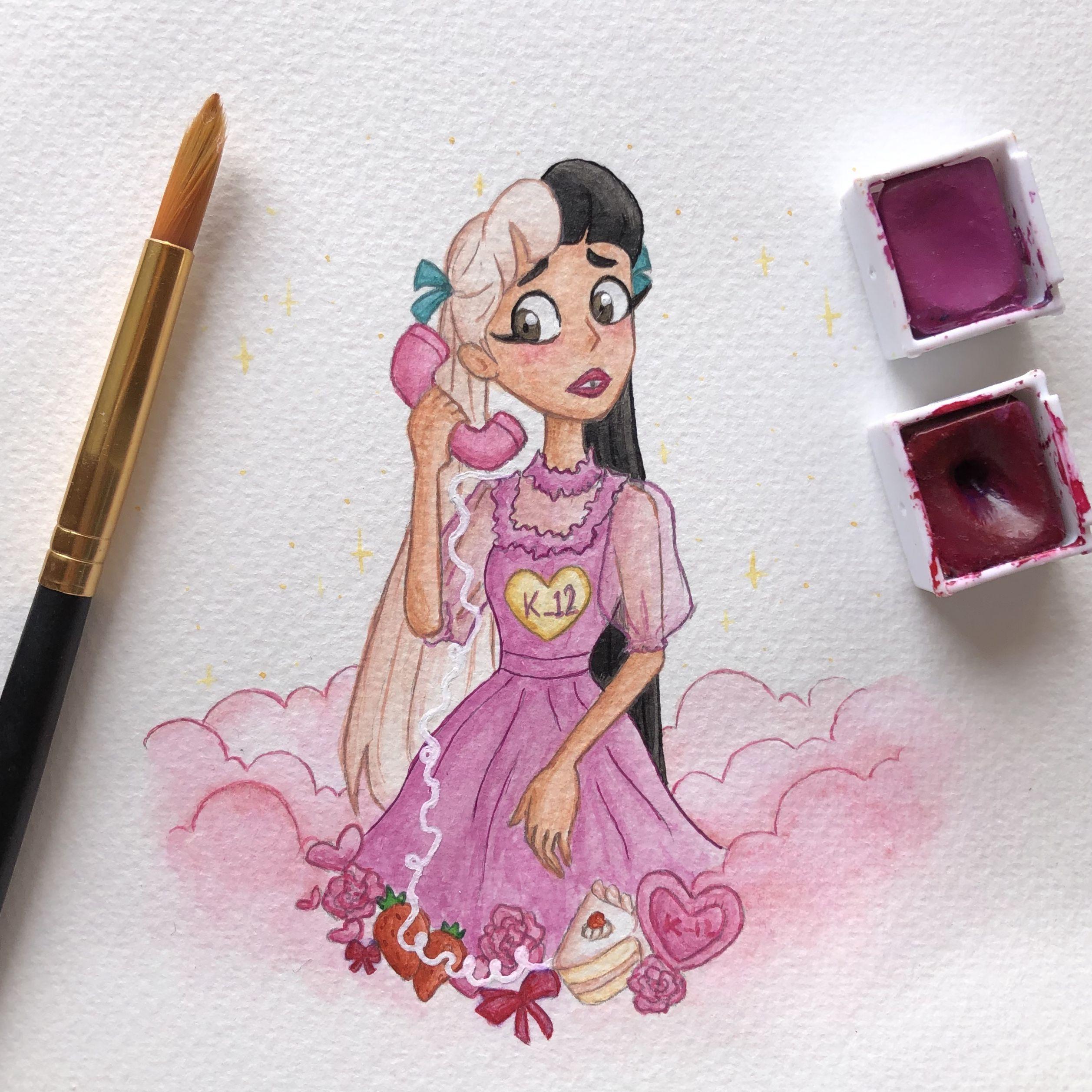 How To Draw Melanie Martinez K12 Album Melanie Martinez Drawings Melanie Martinez Kawaii Girl Drawings