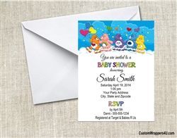 Care Bears baby shower invitation carebears