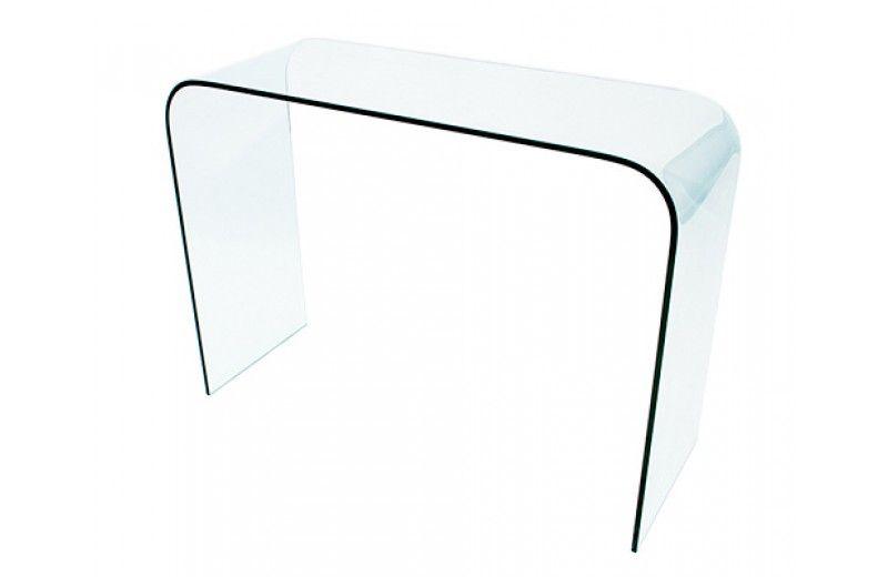 CARLA Console Bureau en Verre Trempé Table Design Meubles