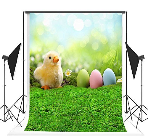 Yeele-Easter-Backdrop 10x8ft Happy Easter Photography Background Eggs Rabbit Sea Level Photo Backdrops Pictures Studio Props Wallpaper