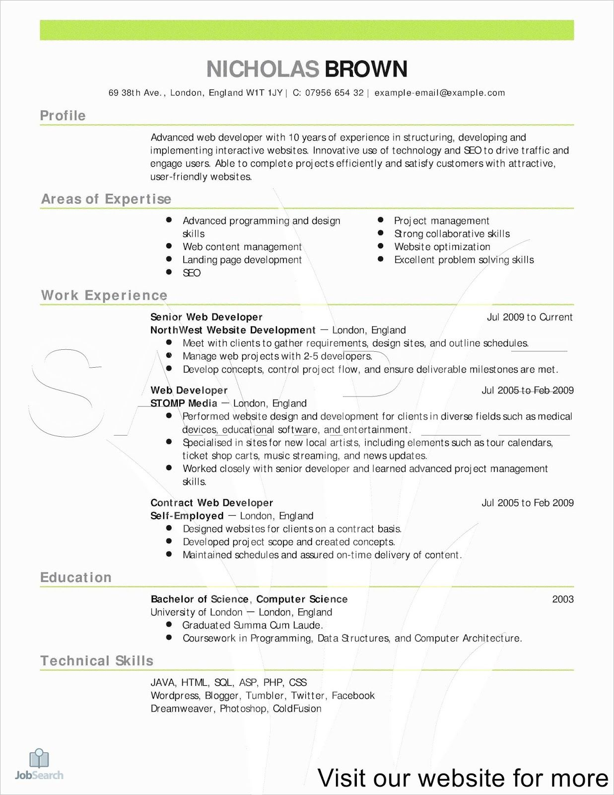 Indeed Resume Template Word