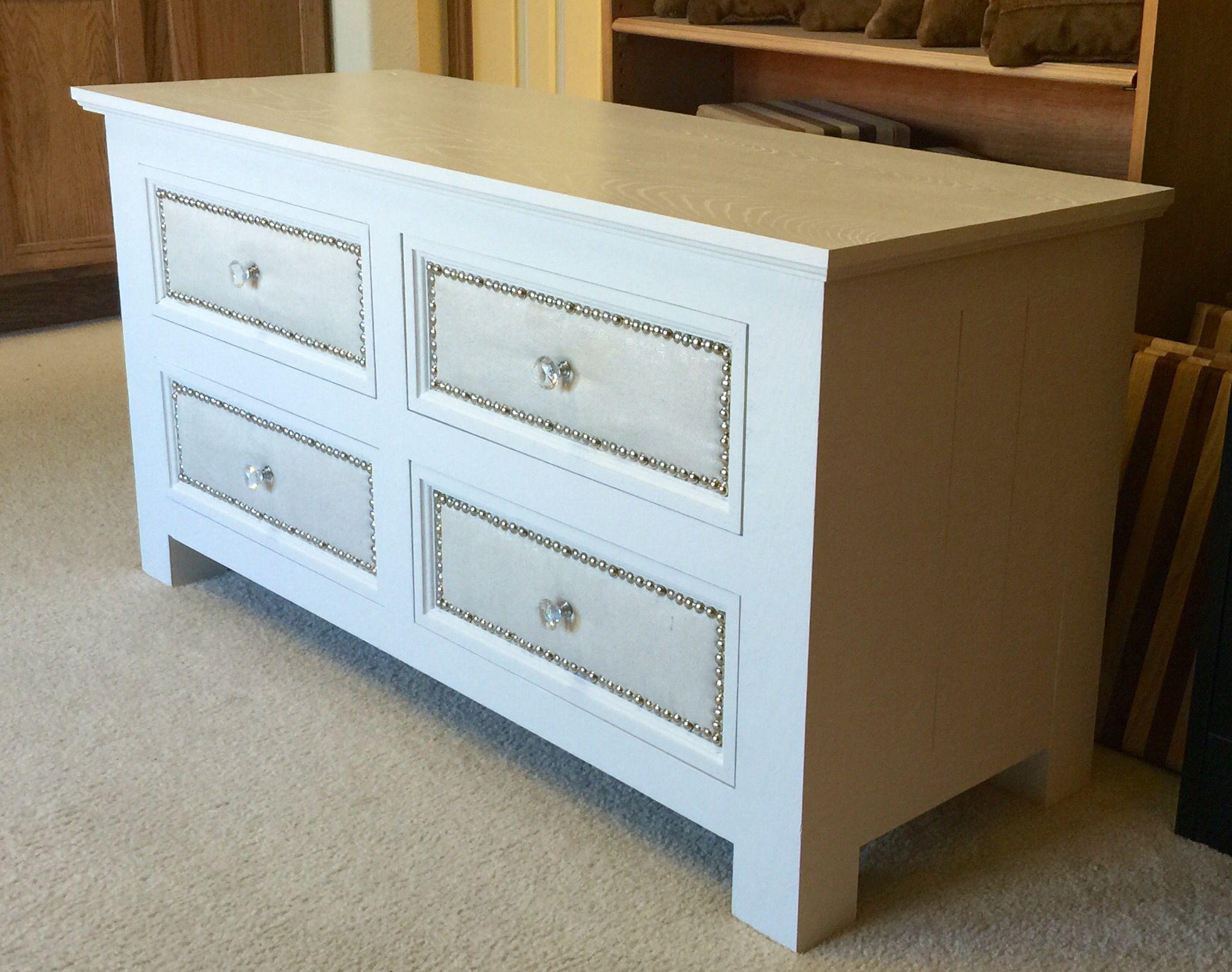 """Custom solid ash 4 drawer dresser 47""""L x 18""""D x 24""""T"""