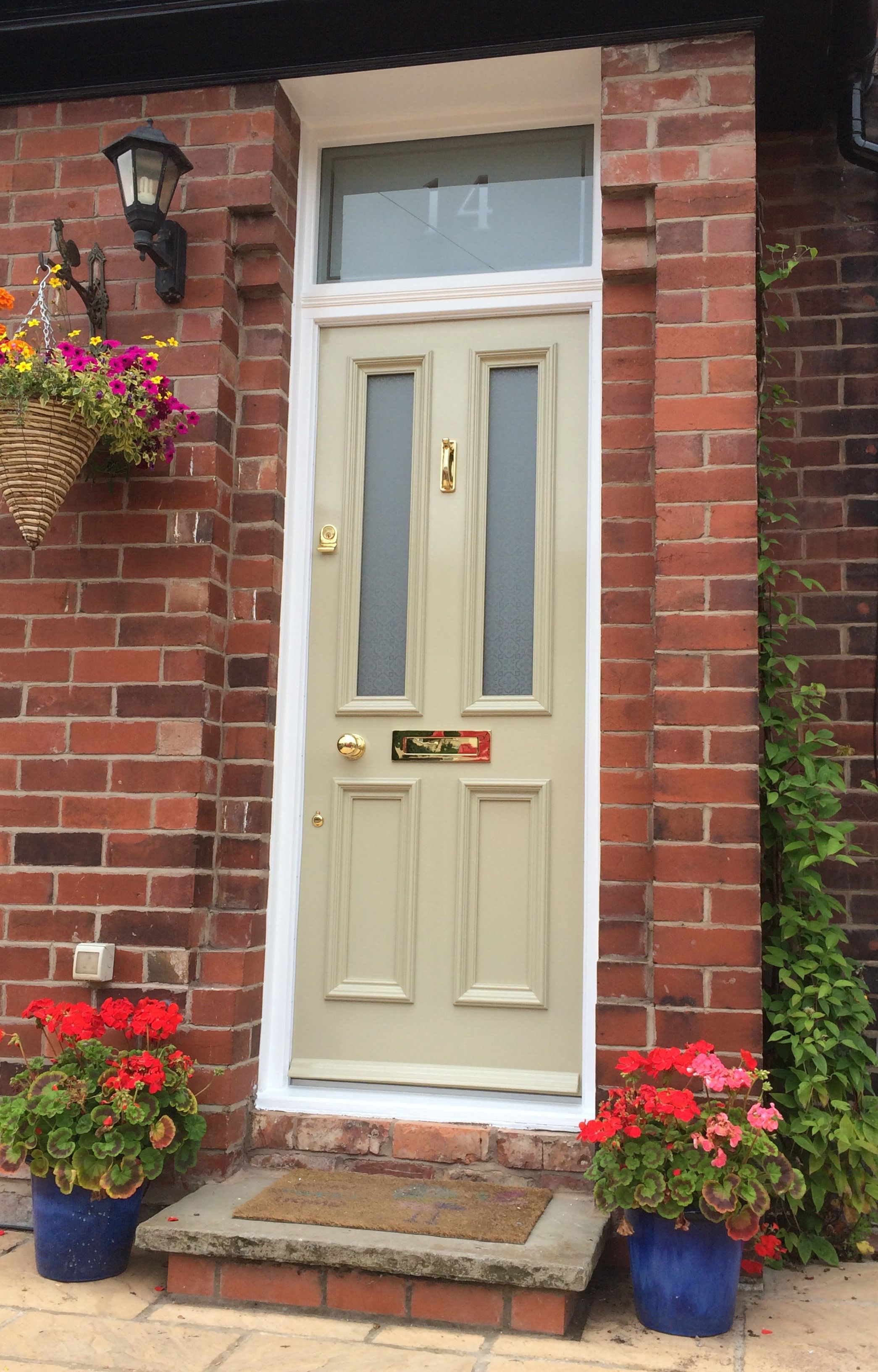 Grand Victorian front door with Canterbury glazing and numbered ...